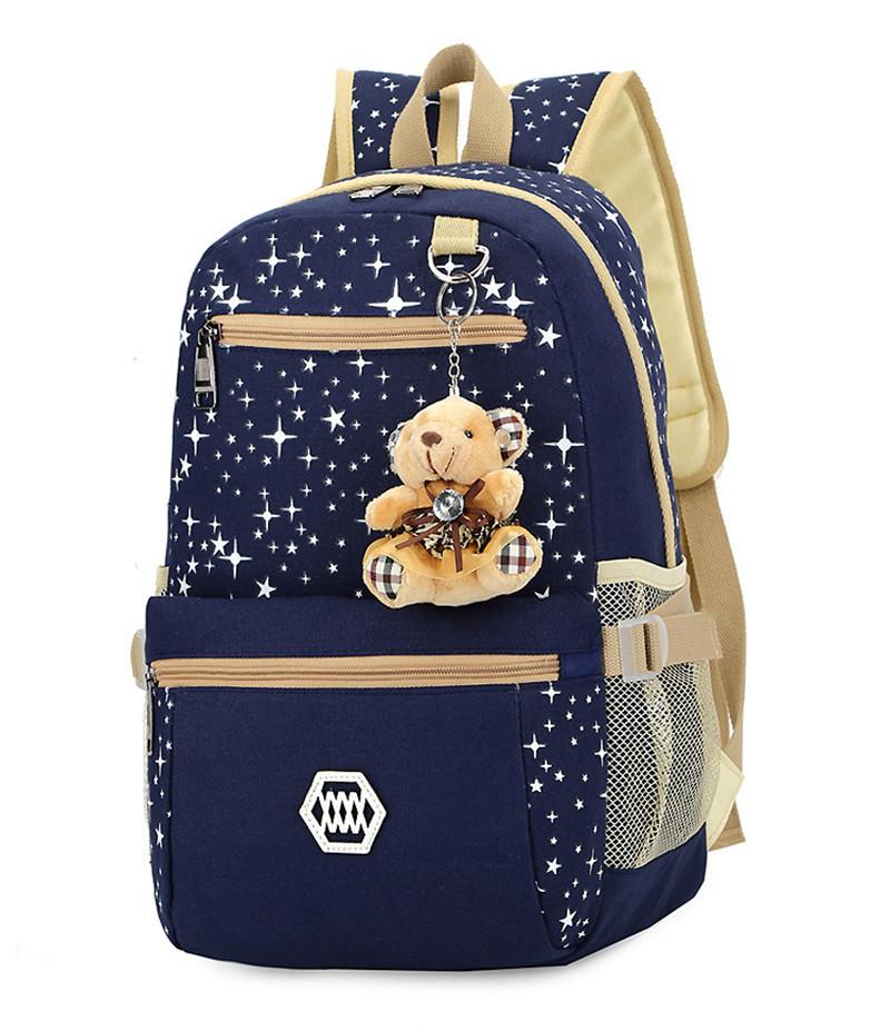 270 (22)3 pièces/ensemble sac à dos sacs d'école