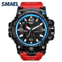 SMAEL 럭셔리 브랜드 남성 스포츠 시계 LED 디지털 시계 패션 캐주얼 시계 디지털 1545 relogio militar 시계 남성 스포츠 시계
