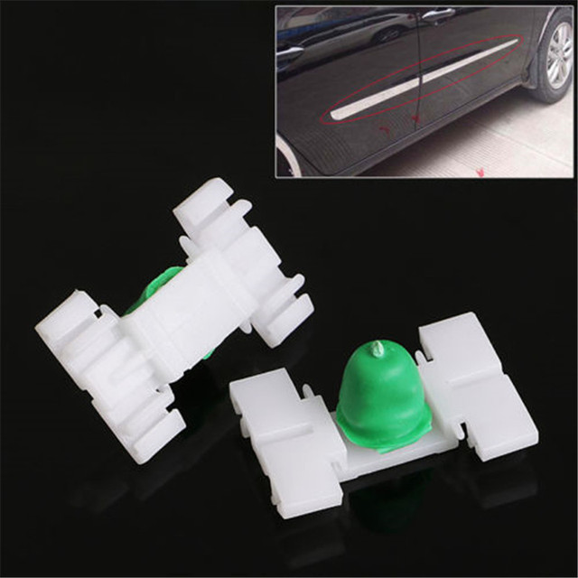 Hot 20 Pcs Exterior Door Fender Moulding Trim Clip For BMW E36 E46 323 325 328 330