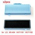 2 pièces Filtre HEPA pour LG XR 404 VK71181 VK71182 VK71185 VK71186 VK71189 VK70186 VK79182 Aspirateur Partie Filtres De Remplacement|Pièces d'aspirateur| |  -