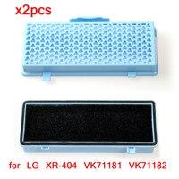2 stks HEPA Filter voor LG XR-404 VK71181 VK71182 VK71185 VK71186 VK71189 VK70186 VK79182 Stofzuiger Deel Vervangende Filters