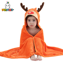 MICHLEY Animal Model Cloak 100% Cotton Baby Bathrobe Cartoon Towel Character Kids Bath Robe Hooded WEG-O