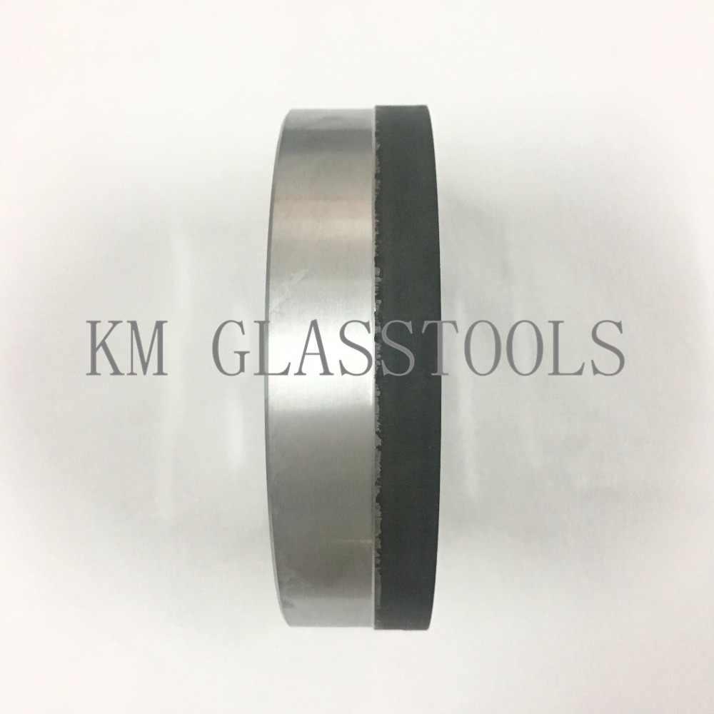 Free Shipping!Three-band resin wheels D150x22x16x10mm for shape bevel edge machine.
