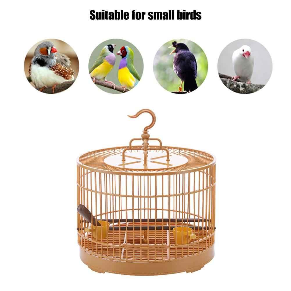 4 x jaula de plástico Alimentador del Pájaro