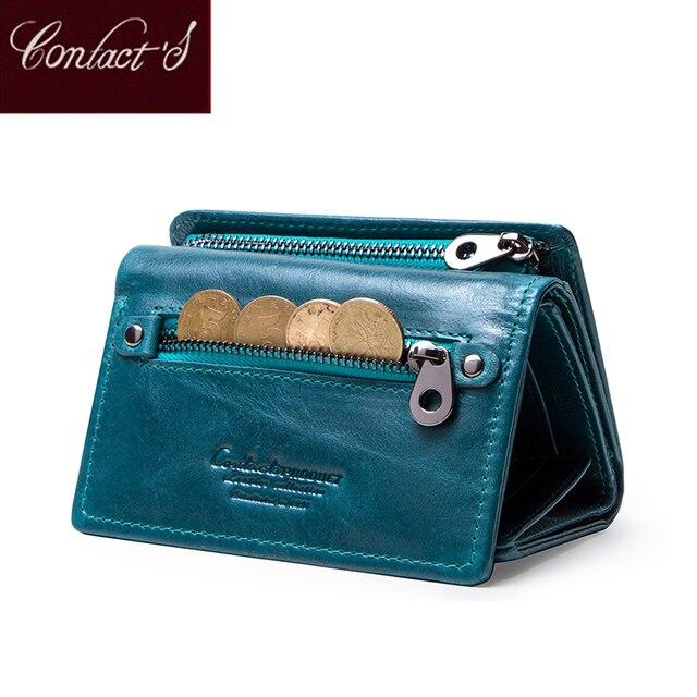 連絡の女性財布クラッチコイン財布女性レザー本革ショート財布ジッパーカードホルダーマネーバッグ女の子