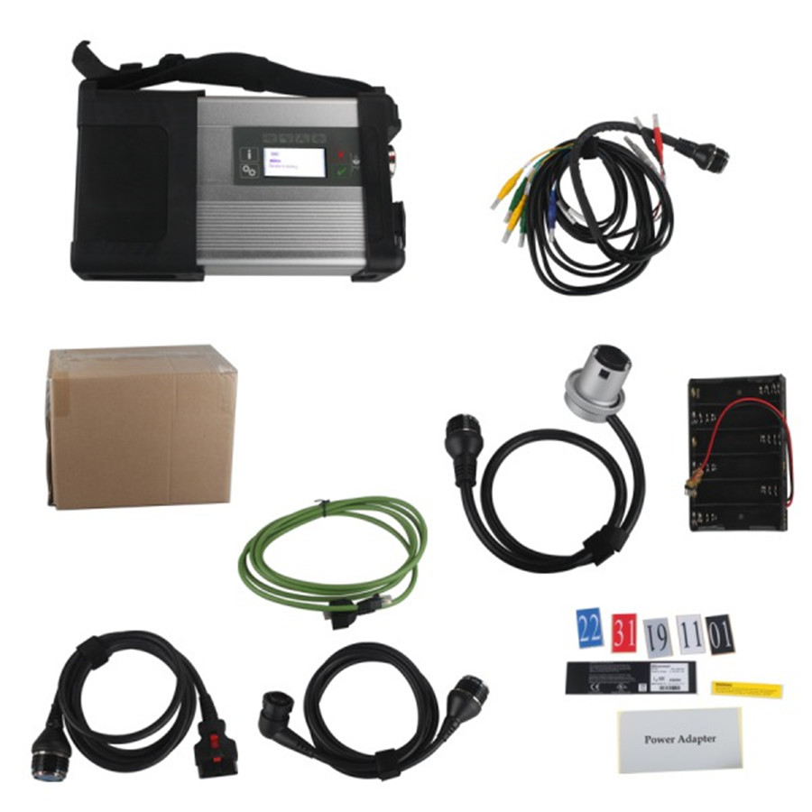 2016 Best MB SD C5 Star Multiplexer with WIFI Diagnosis for Cars and Trucks Without Software HDD Free Shipping