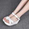 Envío Gratis Cómodas Sandalias De Cuña Zapatos de Tacones Altos Gladiador Sandalia 2016 Nuevos Zapatos Del Verano SMYCN-A0055