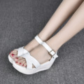 Free Shipping Comfortable Wedge Sandals High Heels Shoes Gladiator Sandal 2016 New Fashion Summer Shoes SMYCN-A0055
