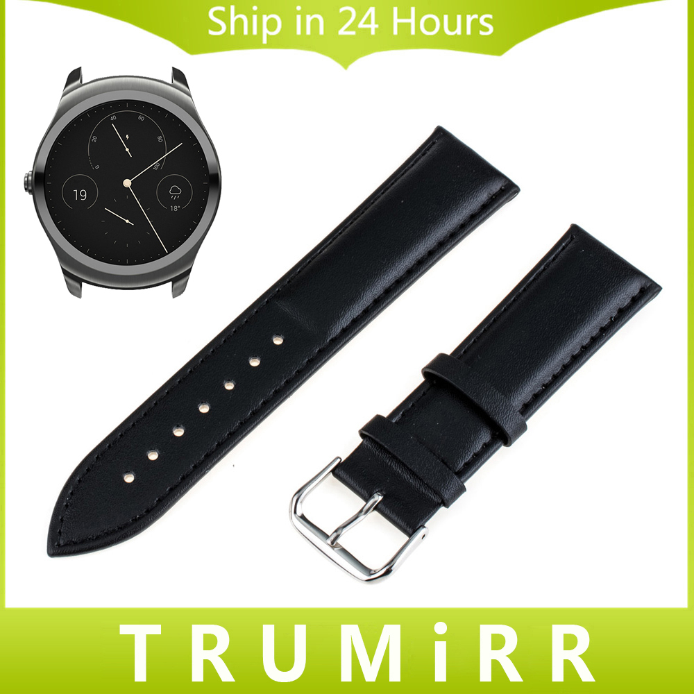 20mm 22mm Genuine Leather Watchband Full Grain for Ticwatch 1 46mm / Ticwatch 2 42mm Watch Band Wrist Strap Bracelet Black Brown 18mm genuine leather watchband for withings activite steel pop smart watch band wrist strap plain grain belt bracelet tool