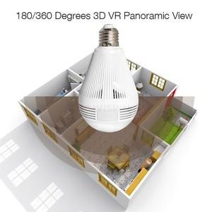 Image 3 - 960P 1080P 3MP 5MP אלחוטי פנורמי IP 3D VR מצלמה WIFI הנורה אור FishEye 180/360 תואר טלוויזיה במעגל סגור אבטחת בית מיני מצלמת Wi Fi