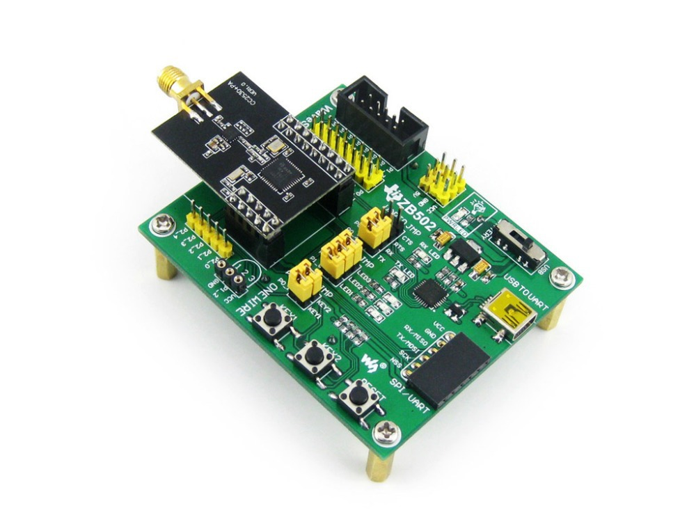 Waveshare ZigBee Development Evaluation Kit For CC2530F256 Consists Of Mother Board ZB502 + Module XCore2530. =CC2530 Eval Kit2