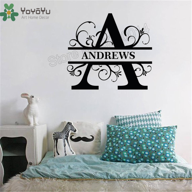Letter Wall Sticker Design Name
