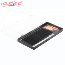 NEWCOME 1cases,All Size Individual Eyelash Extension Curl BCD Fake Extensions Korea Silk Mink Lash Natural False