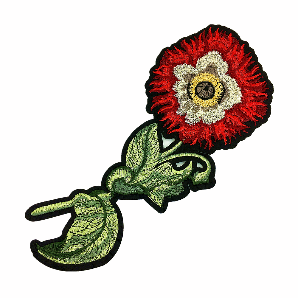 2pair Embroidery Patch Iron On Patches For Clothing Flower Applique Clothes Stickers Parches Bordados Para La Ropa AC1421 in Patches from Home Garden