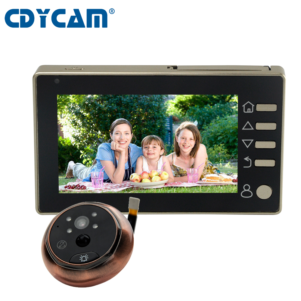 CDYCAM 4 3 Wireless LCD Digital Door Monitor Smart Peephole Video Doorbell Motion Detection 3MP HD