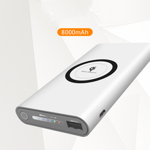 10000mAh Wireless Phone Charge External Battery Pack for iphone X iphone 8 8 Plus 5V 2A Slim Wireless Phone Charge Power Bank