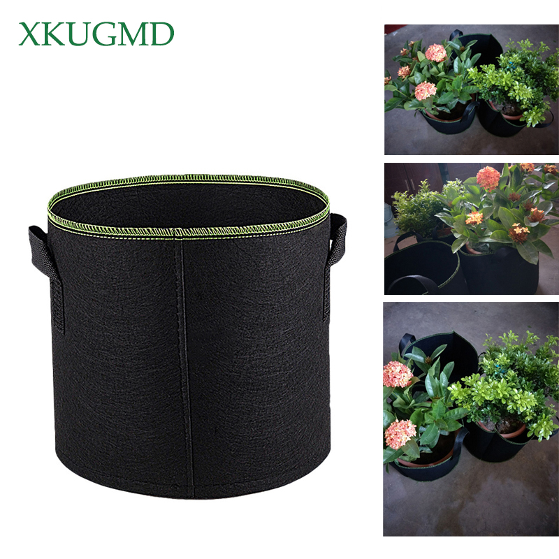 Garden Pots & Planters Non Woven Tree Fabric Pots Grow Bag Root Container Plant Pouch Black Hand With Planting Flowers Nonwoven Bags Grows Culture