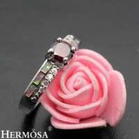 Romantic Precious Stone Jewelry Gift Mystic Fire Australian Opal Mozambique Garnet 925 Sterling Silver Womens Ring