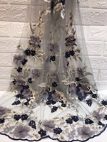 Wholesale And Retail ZH 92226 Wedding Lace Fabric African feather lace Fabric Embroidered tulle net lace fabric