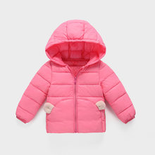 Girls winter warm coats kids cute cotton down parkas for baby girls children fashion outerwear clothing girls jackets doorout(China)