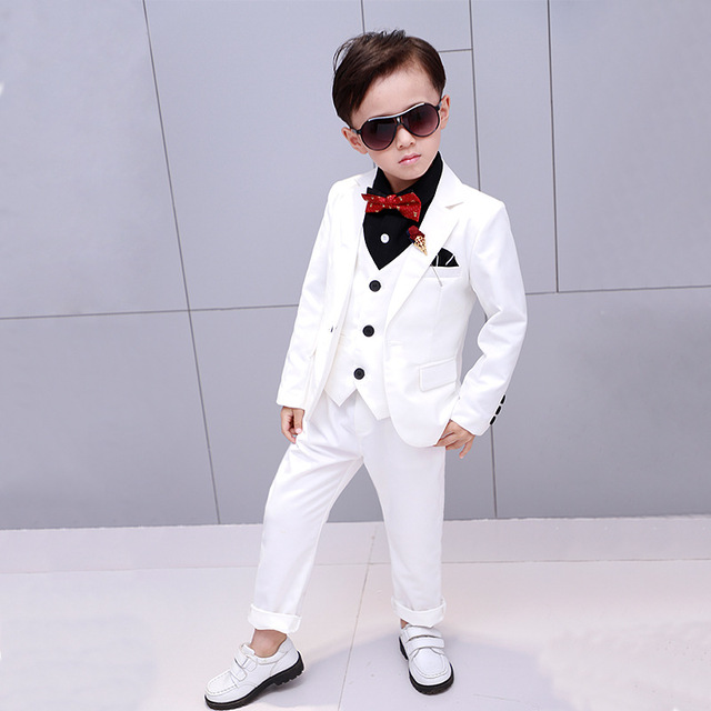 2019 New Flowers Boys Suits Wedding Formal Children Suit Tuxedo Dress Party Clothing Vest Pant Coat Ceremony Costumes 2 12Y Australia 2020 From