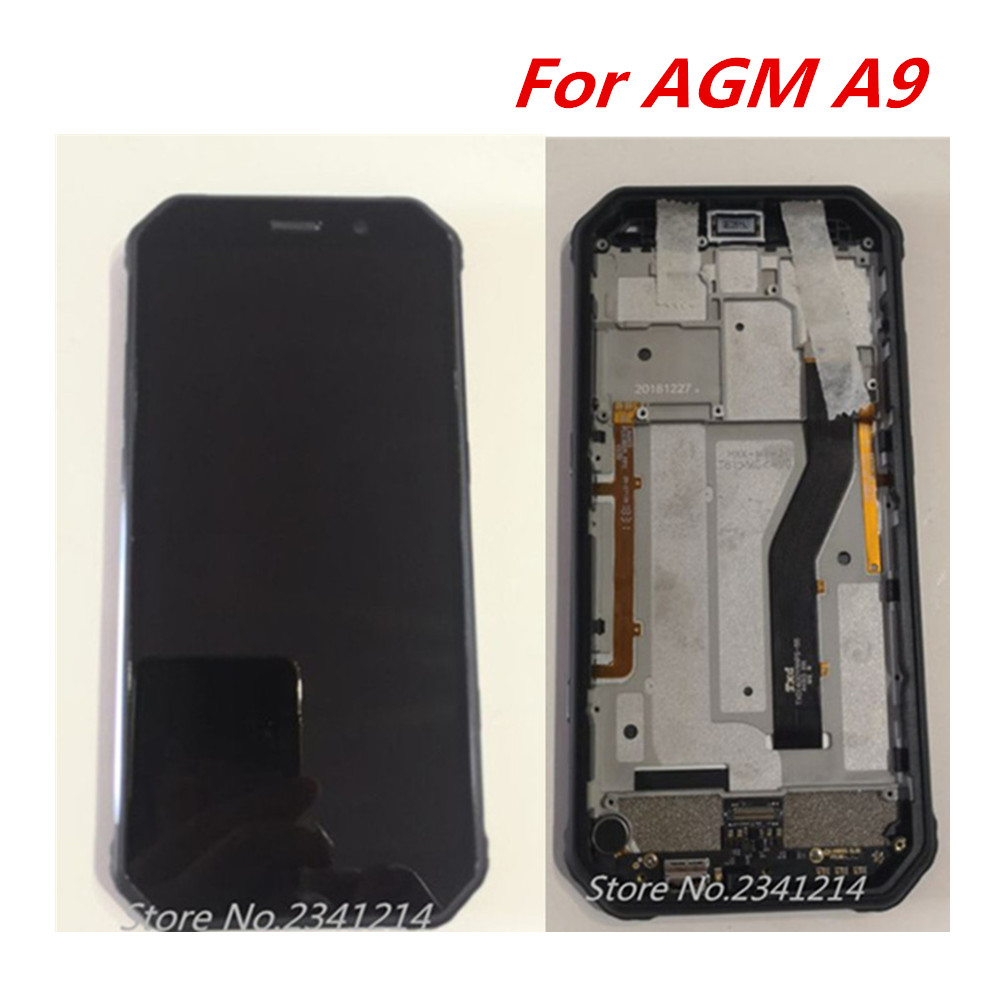 Repair Tools+New For AGM A9 5.99'' 2160*1080 IP68 LCD Display Digitizer With Usb Board Motor + Touch Screen Assemblely Glass