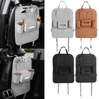Car Auto Seat Back Multi-Pocket Storage Bag Organizer Holder Hanger Travel Storage Box for Glasses Drink Bottles Free Shipping