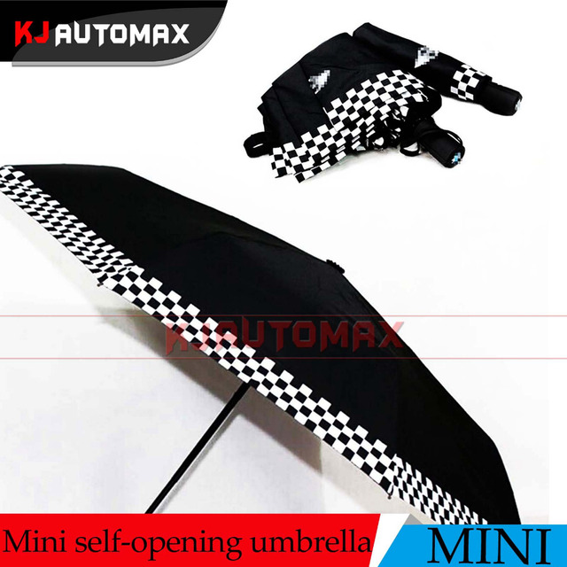 Mini Cooper Accessories Black Car Automatic Terylen Folding Umbrella Countryman Clubman F54 F55 F56 F57 R55 R56 R57 R58 R59 R60