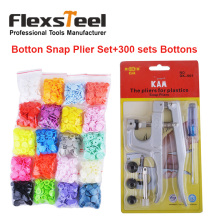 300sets 20 Colors Mixed KAM T5 12mm Plastic Snap Buttons and 1pc Fastener Kam Snaps Press Plier Kit Set