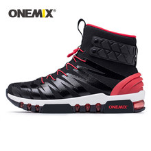 ONEMIX Walking Shoes Men Boots Trekking Shoes For Women Sneakers High Top Boots For Outdoor Walking Trekking Sneakers Big Size(China)
