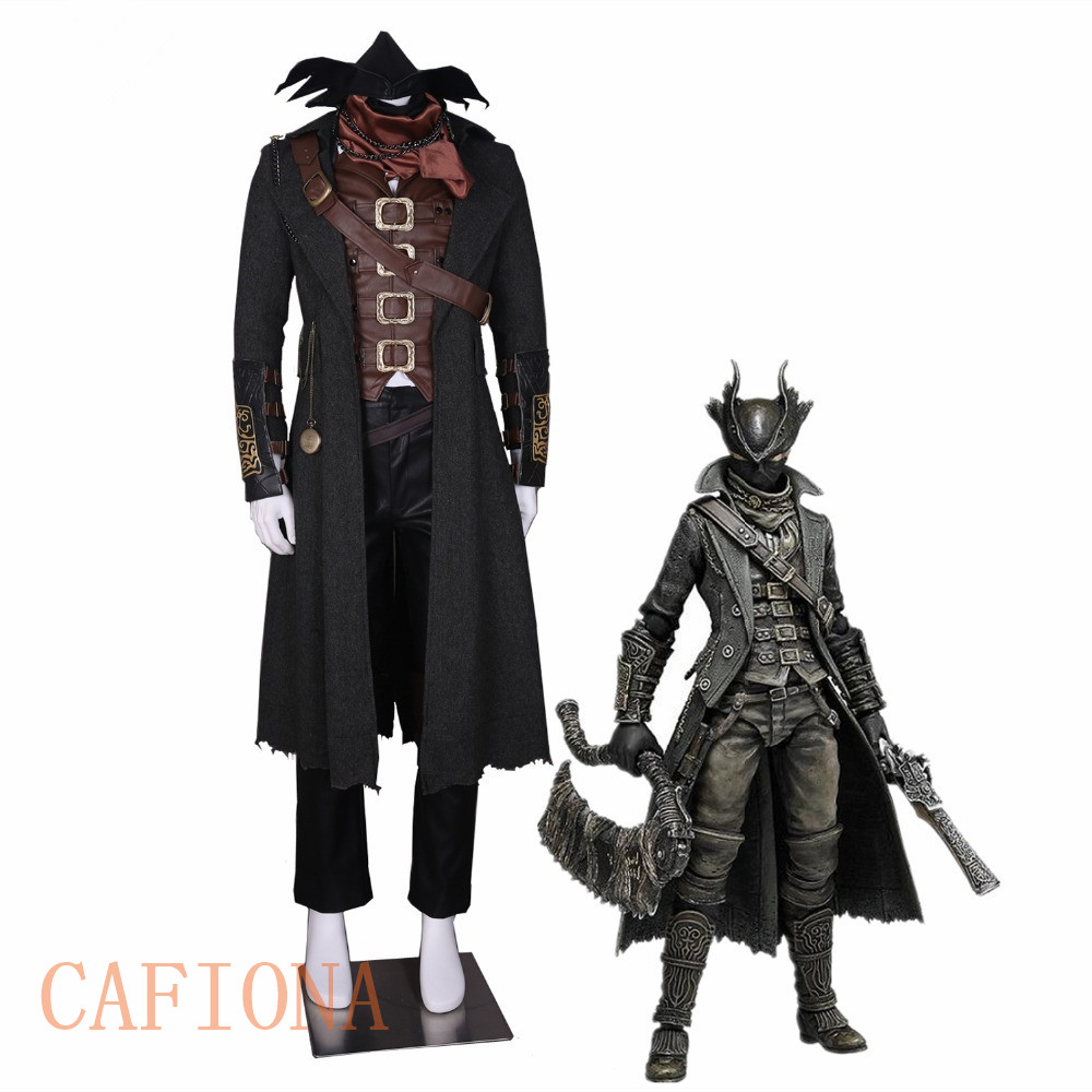 Novelty & Special Use Costumes & Accessories Audacious Cafiona Bloodborne Cosplay The Hunter Ludwig Cosplay Costume Leather Vest Coat Pants Hat Scarf Watch Necklace Mask 14pcs Set Big Clearance Sale