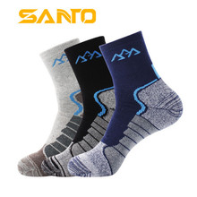3 Pairs SANTO S014 Outdoor Cotton Socks Mens Sports Quick Dry Spring Summer Fit to Size 39-43