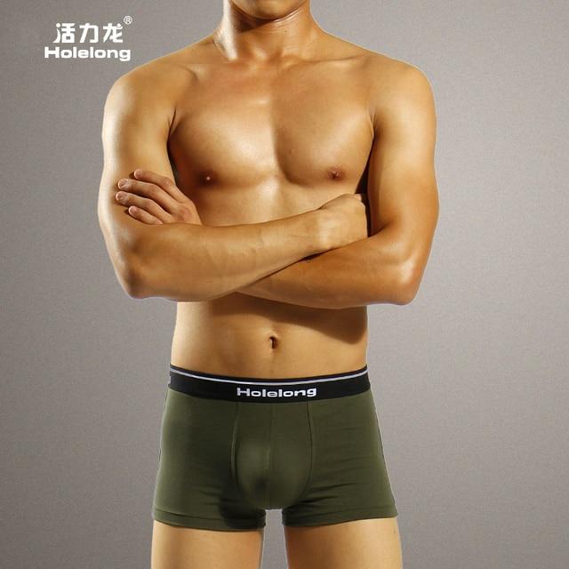 Free-shipping Holelong man size pants pants men fat modal anti roll movement of the leg four angle pants HCPM020