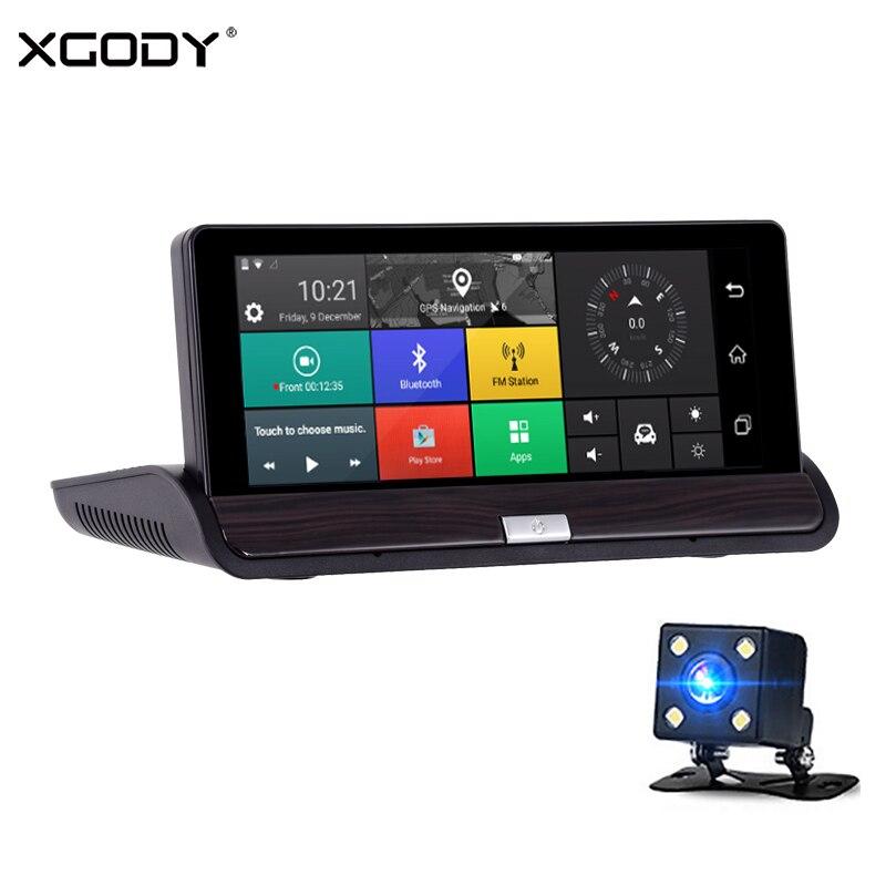 XGODY 7 Inch Car DVR GPS Navigation Touchscreen Android 5.0 Navigator 1GB RAM 16GB ROM 3G WiFi Bluetooth Navitel 2017 Dash Cam