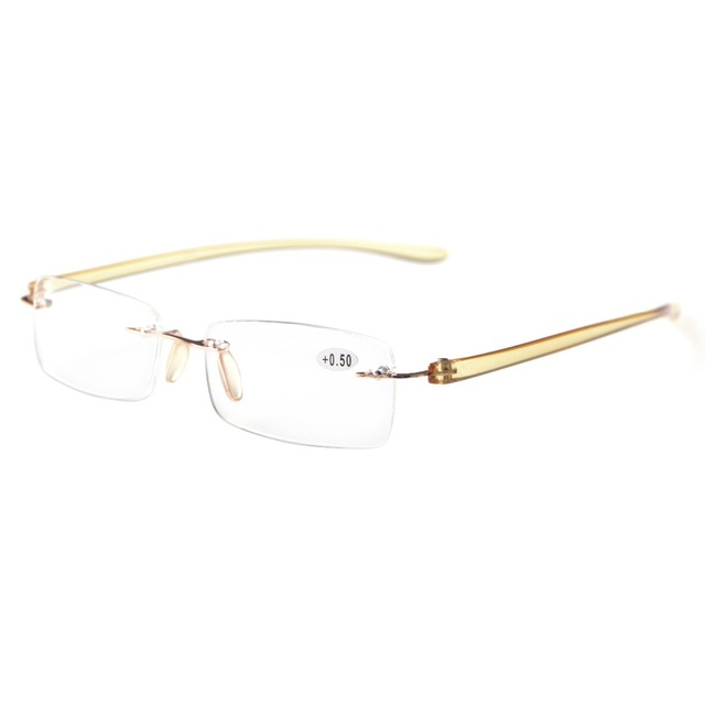 77146a9dabd R14001 Eyekepper Readers Small Lenes Rimless Reading Glasses +0.50---+4.00