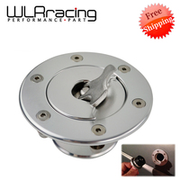 Free Shipping Aluminum Billet Fuel Cell / Fuel Surge Tank Cap Flush Mount 6 bolt Mirror Polished Opening ID 35.5mm
