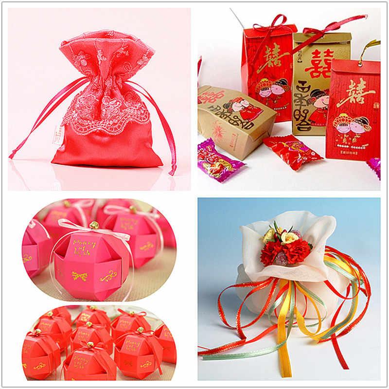 Cinta de satén de seda hecha a mano DIY de 25 yardas y 3mm para manualidades, costura, decoración para fiesta de boda 5BB5621