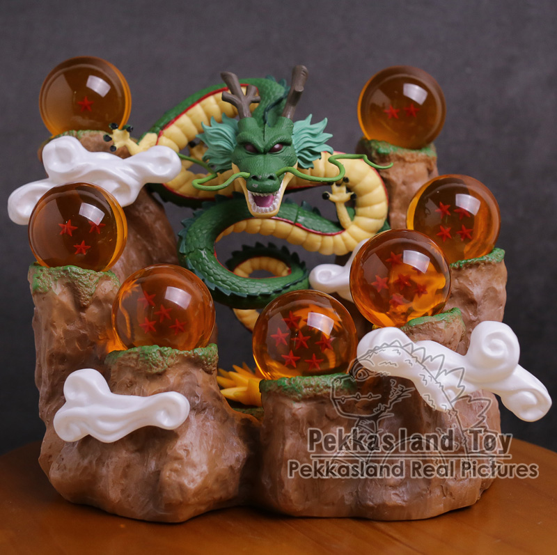 Dragon Ball Z Shenron + Mountain Stand + 7 Crystal Balls PVC Figures Collectible Model Toys