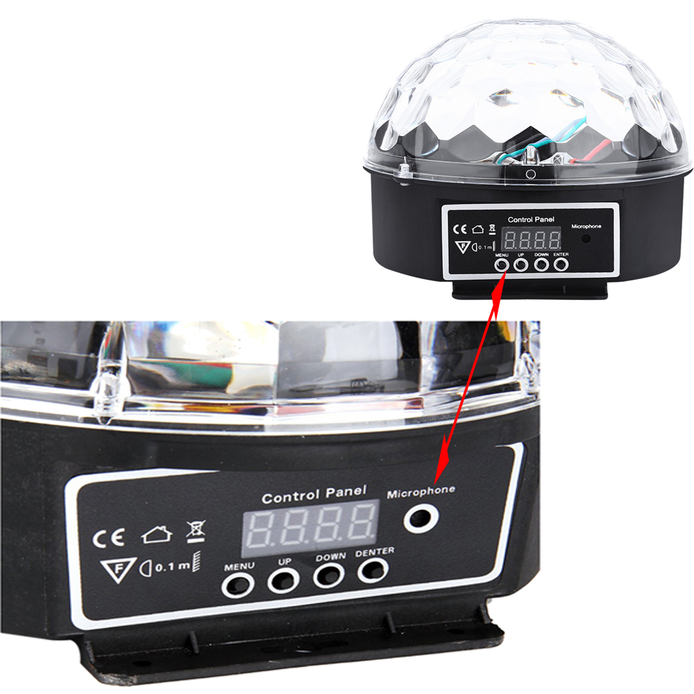 Image 2 - DMX512 RGB Premium Sound Control Stage Light LED 27W 9LEDS RGB Magic Crystal Ball Lamp Disco Light Laser Wedding home Party lase-in Stage Lighting Effect from Lights & Lighting on
