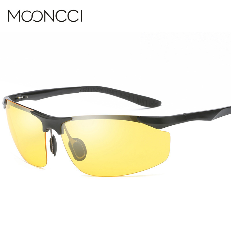MOONCCI Aluminium HD polarisierte gelbe Sonnenbrille Männer HD - Bekleidungszubehör