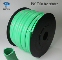 Free shipping green color PVC tube sleeve for printer, wire marking machine ,cable ID electronic lettering