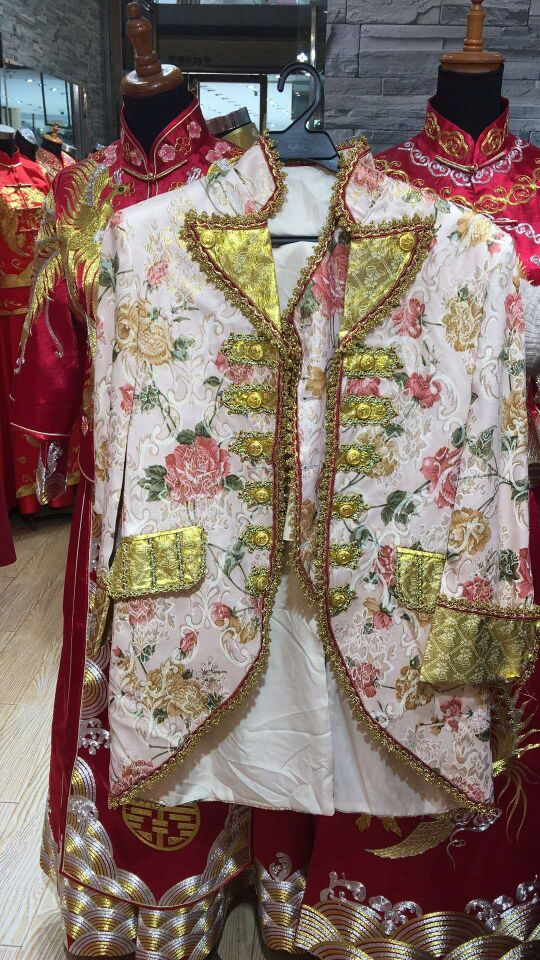 mens medieval jacket with vest Renaissance costume/civil war/Colonial Belle Ball cosplay stage performance