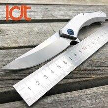 LDT łożysko kulkowe niebieski księżyc nóż taktyczny składany D2 ostrze uchwyt ze stali Outdoor noże Camping kieszeń survivalowa noże narzędzia EDC