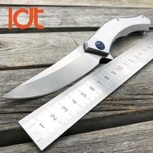 LDT roulement à billes bleu lune tactique couteau pliant D2 lame en acier poignée extérieure couteaux Camping survie couteau de poche outils EDC