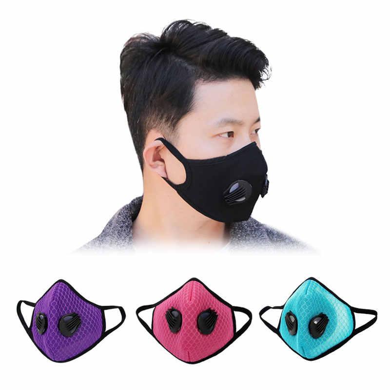 Máscara deportiva de algodón impresa personalizada de alta calidad GLORSUN máscara de deporte de carbón activado de algodón cara anti polvo haze anti polvo ordor algodón