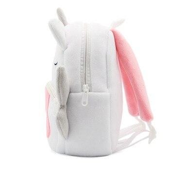 Rainbow Unicorn Soft Plush School Bag