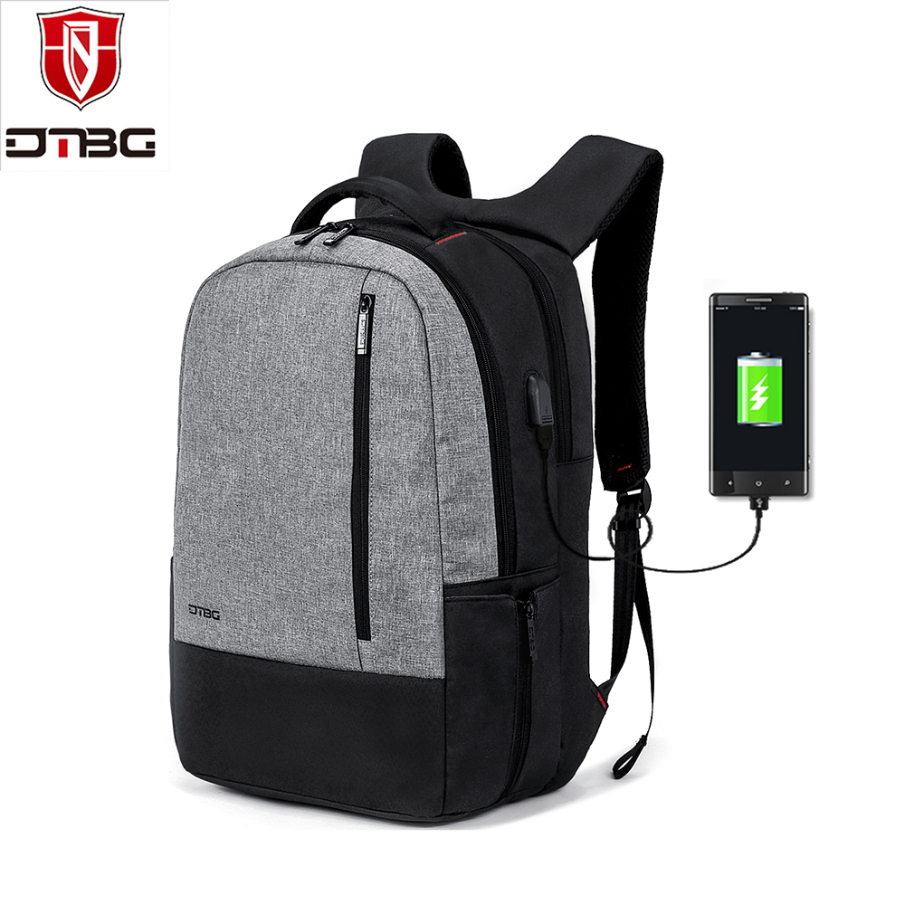 DTBG Laptop Backpack 17.3 Inch with USB Charging port Men Women 2018 Fashion Travel Business Waterproof Backpacks Notebook Bag