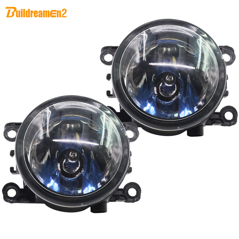 Buildreamen2 For Renault Megane Scenic Logan Laguna Car Styling Fog Light 100W Halogen Car Light 12V Fog Lamp Warm White 2 Piece