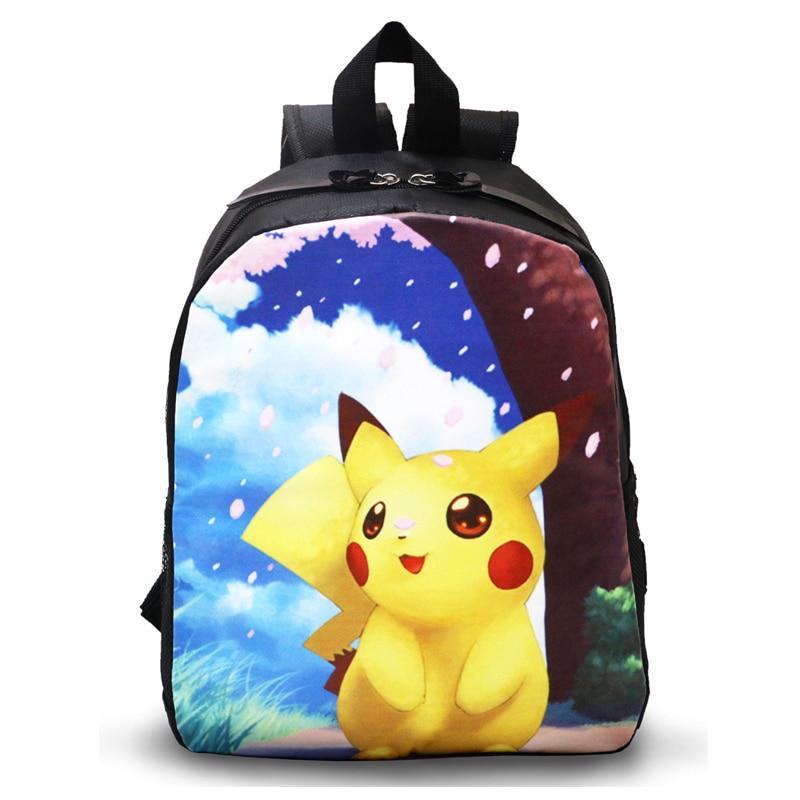 Детский рюкзак Покемон Пикачу с принтом животных школьные Рюкзаки для детей Школьные сумки для подростков Обувь для мальчиков Mochila Pokemon