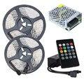LED Strip 12V Waterproof RGB Tape Lighting SMD 2835 60leds/m LED Rope Light+Music RGB Controller+ AC 220 to 12V DC Transformer